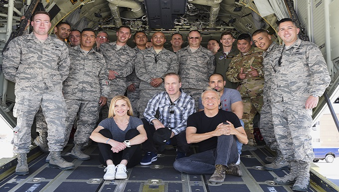 Better Call Saul Cast Visits New Mexico Air National Guard